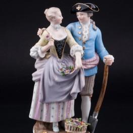 Старинная статуэтка из фарфора Аллегория Весны, Садовники, Meissen, Германия, 19 в.