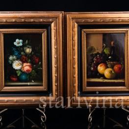 Две картины на фарфоре, натюрморты, Neudorf, Германия, сер. 20 в