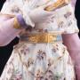 Фарфорвая статуэтка Дама в шляпке с веером, Франция, 19 в.
