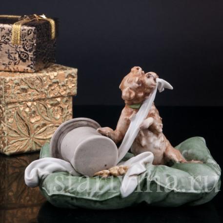 Статуэтка собаки из фарфора Лохматый проказник, Capodimonte, Италия, сер. 20 в.