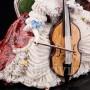 Статуэтка Дама с виолончелью, кружевая, Volkstedt, Германия, сер. 20 в.