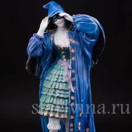 Уцененная статуэтка из фарфора Коломбина, Karl Ens, Германия, 1920-30 гг.