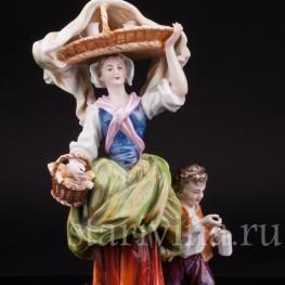 Фарфоровая статуэтка Торговка, Тюрингия Германия,, Кон 19, нач. 20 вв.