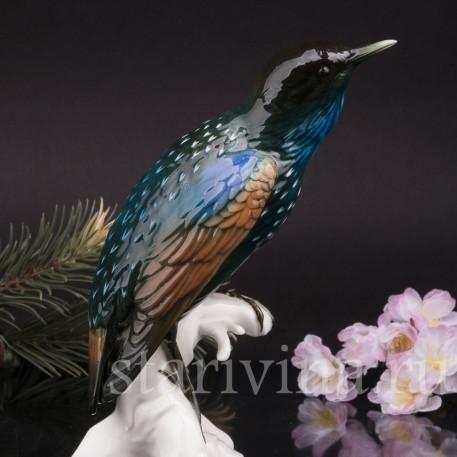 Фигурка птицы из фарфора Скворец, Karl Ens, Германия, сер. 20 в.