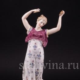 Фарфоровая статуэтка девушки Муза, Ernst Bohne Sohne, Германия, нач. 20 века.